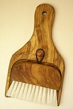 木製ほうき、ちりとり